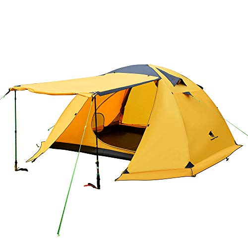 GEERTOP Portable 4 Person 4 Seasons Backpacking Tent Double Layer Waterproof Larger Family Camping Tent Lightweight for Camp Outdoor Sports...