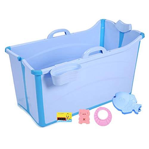 Summer Infant Comfort Bath Tub Kinder Und Erwachsene Badewanne Faltbaren Große Badewanne Baby Badewanne Pool Erwachsenen Badewanne Zu Hause (farbe: Blau, Größe: 91 * 50 X 53 Cm)
