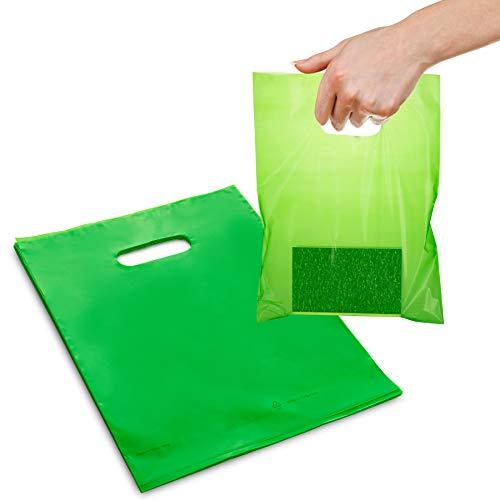 9 x 12 Low Density 1.25 mil Merchandise Bag (Pack of 25) (Lime)