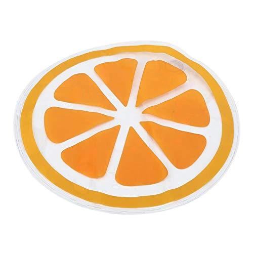 Cojín de hielo de verano transpirable para oficina para exteriores para todos los automóviles para hombres y mujeres(orange)