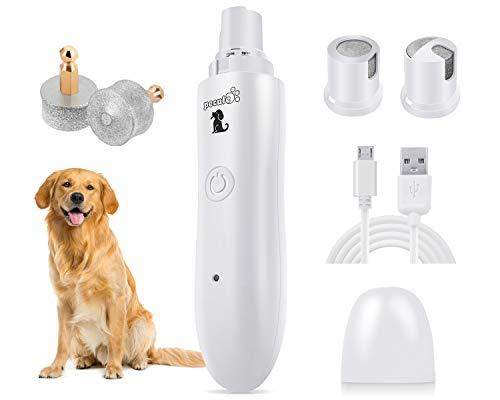 Pecute Krallenschleifer für Hunde und Katzen mit LED-Licht,50 Dezibel super-leise Lärm, Zwei-Gang-Schaltung mit Superkraft-Geschwindigkeit, USB-Anschluß,mit 2...