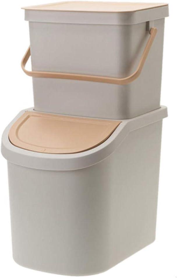 Caty Double Plastic Dust Bin 25L Unique 8L+17L Soft Great interest Luxury goods Kitchen