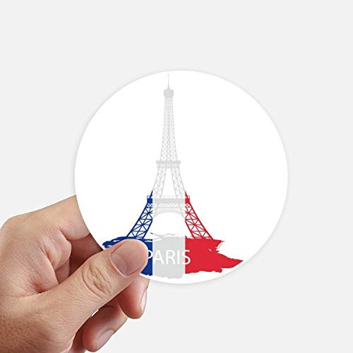DIYthinker Eiffel Tower Paris France Silhouette Round Stickers 10Cm Wall Suitcase Laptop Motobike Decal 8Pcs