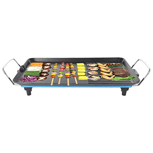 Rosie Electric Grill, Non-stick Teppanyaki Grill, Large Fit Grill Steel Grill with Built in Drip Tray for 1-4 Person, Adjustable Automatical Thermostatic Heat Control, Mini Pans for Cooking Cheese