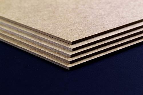 MDF Holzplatte Werkstoff 20 x 30 cm Baumaterial Hobbygebrauch Dekoration Größenwahl 30 x 20 cm Hier: Braun | 3 Stck