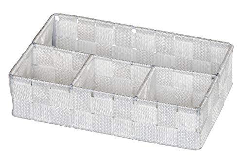 WENKO Organizer Adria Klein Weiß Füllkörbchen Wäschebox Ablage spielzeugbox
