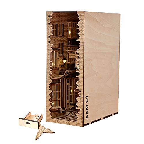 HYZM Holzbausatz Bücherständer Modell, DIY 3D Holzpuzzle Buchstütze Modellbau Kits Kreatives Geschenk Für Kinder und Erwachsene
