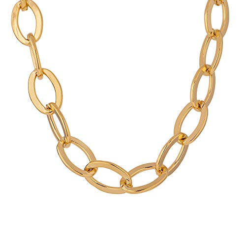 WQZYY&ASDCD Pulseras Brazalete Moda para Mujer Color Dorado Metal Cadena De Moda Collar De Cobre Collar Joyería Fiesta Regalo