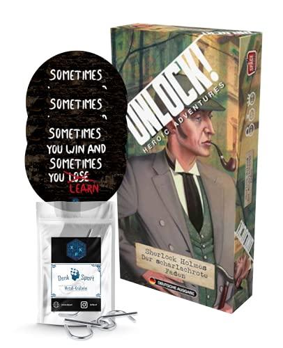 Unlock! - Set composto da 3 adesivi da escape + 1 guida in metallo