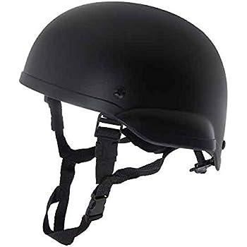 MICH2001タイプ 4点式あご紐ヘルメットBK 耳あり