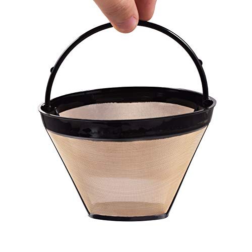 MJULY Reusable Coffee Filter for Ninja Coffee Bar Brewer #4 Cone Replacement Coffee Makers Filters