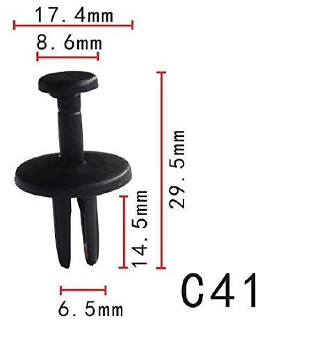Autobahn88 Front Fender Mud Skirt & Fender Liner Push-Type Clip, fits for GM, Chrysler (OEM: 14019205, 14019206, 34201621, 16514113) (Pack of 20)