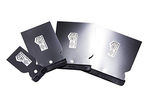 BSH® Japanspachtel-Set 4-teilig, Made in Germany, Edelstahl oder Kunststoff (Rostfreier Edelstahl)