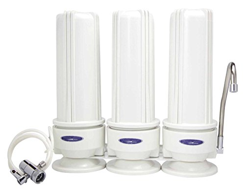 Crystal Quest Countertop Replaceable Triple Arsenic Water Filter System