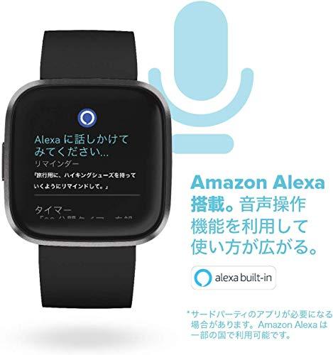 FitbitVersa2Alexa搭載スマートウォッチBlack/CarbonL/Sサイズ[日本正規品]FB507BKBK-FRCJK