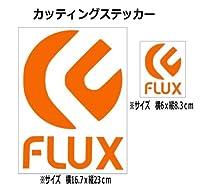 【②】フラックス FLUX カッティング ステッカー (オレンジ)