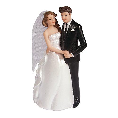 Rayher 46191000 Polyresin Brautpaar, 7,3 x 5,1 x 14cm
