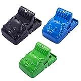 MARMODAY Trampa reutilizable para ratón, paquete de 3 trampas para ratones para interiores, fácil de colocar y fácil de cebar ratas asesino 3 colores
