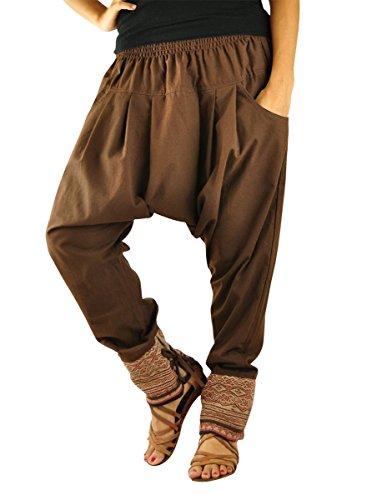 virblatt - Haremshose Damen Hippie Kleidung Hose Herren Aladinhose männer Frauen - Verbunden