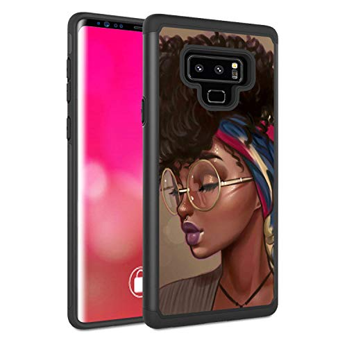 Galaxy Note 9 Case, Rossy Shockproof Heavy Duty Hybrid TPU Plastic Dual Layer Armor Defender Protection Case Cover for Samsung Galaxy Note 9 2018,African American Girls