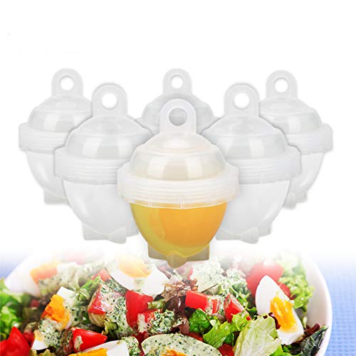 EgBert 7Pcs/Set Hard Boil Egg Cooker 6 Egg Boilor Ohne Schalen Mit Bonus Egg White Separator Eggs Steamer Egg Kessel-Cooker Cooking Tools