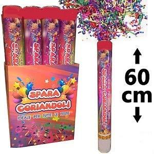 Palucart 12 sparacoriandoli spara coriandoli 0251 Party Popper 60cm Multi Color Cannone sparacoriandoli Colorati