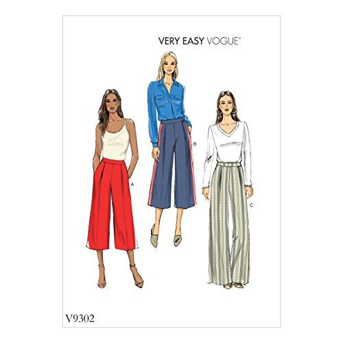 Vogue Mustern 9302OS Schnittmuster Hose, Tissue, mehrfarbig, 15x 0,5x 22cm