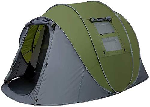 TTYUIO Zelt 4-6 Personen Wasserdicht, Pop up Zelte Familienzelt [5 Fenster] Riesiges Camping Zelt Doppelwandig Wurfzelt Shelter 6-Mann Zelt mit Vorraum für Outdoor Sport Picknick Wandern Reisen