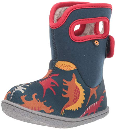 BOGS baby girls Bogs Waterproof Insulated Rain Boot, Dino - Indigo Multi, 7 Infant US