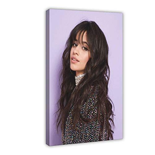 Póster de Camila Cabello con estrella sexy de arte cantante y compositor, actriz diosa ornamento de regalo de 13 lienzos para decoración de pared, para sala de estar, dormitorio, 50 x 70 cm