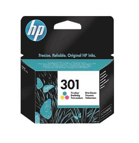 HP Hewlett-Packard 301 Farbstoffbasiert dreifarbig - Original tintenpatrone negro