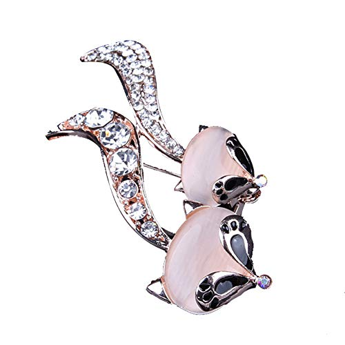 Broche de pin insignias para hombres y mujeres, broche de doble zorro...