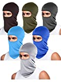 6 Pieces Unisex Balaclava Full Face Mask Winter Windproof Ski Mask (Coffee, Dark Grey, Army Green, Blue, Light Grey, Sky Blue)