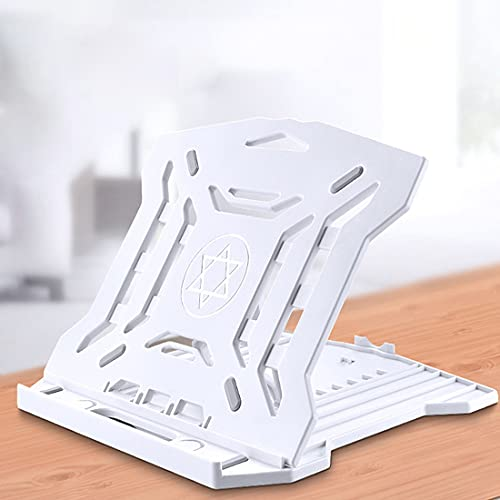 LMAMZ Soporte Portátil Plegable, 8 Ángulos Ajustables Soporte para Computadora, Ergonómico Soporte para Laptop Ventilado, Soporte Tableta, Compatible 10-18' Portátil,Blanco