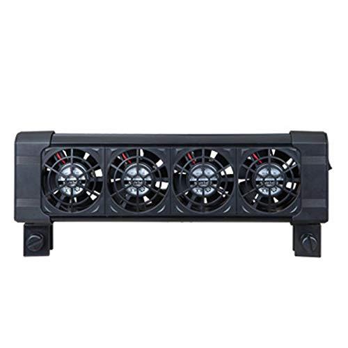 ALEOHALTER Ventilador de refrigeración para acuario de peces, sistema de refrigeración de 2/3/4 ventiladores con instalación de clip para control de temperatura de tanque de peces