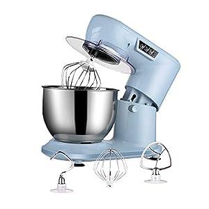 Aifeel Batidora Amasadora Reposteria, Robot de Cocina Multifuncion 1000W con tazón de 4 litros, varillas, gancho para amasar, batidor, protección contra salpicaduras, teclas de función LED