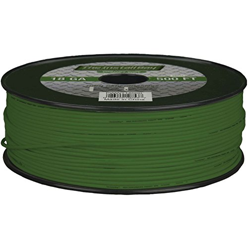 Install Bay PWGN18500 Primary Wire 18 Gauge - Green (500 Feet)