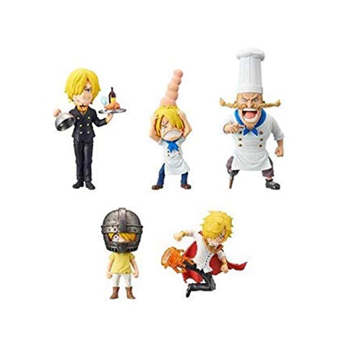 Banpresto One Piece WCF -History Sanji- Except Baratie 5 Set Japan Figures