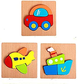 Home Learning Preschool Early Educational Develoment for Over 6 Months Girls Boys HOOPE Silicone DIY Jigsaw Puzzles Classic Tangram Geometric Shape and Color Recognition Board Block Stack Sort