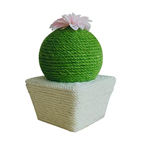 SCDCWW Productos para Mascotas Cactus en Forma de Gatos Perfeccionar Garras Muebles Poste rascador Gatos Parque Infantil Escalada Árbol Torre Juguete (Color : A)