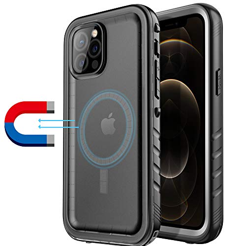 Geelink Magnetic Case Compatible with iPhone 12 Pro Max Magsafe Charger - Waterproof Case for Mag-Safe case with Full Body Shockproof Dustproof Protection (6.7 inch)