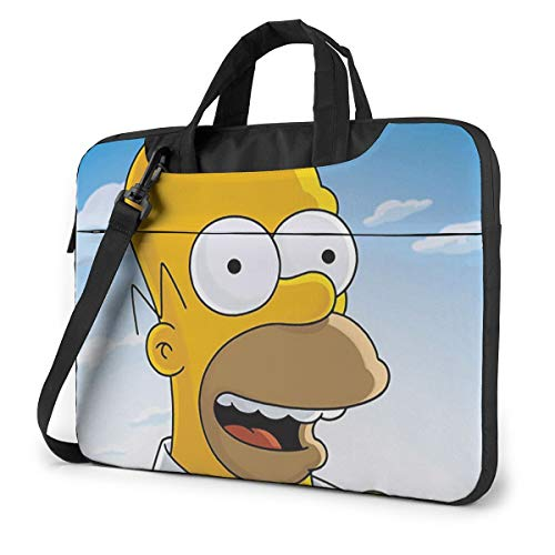 NDSXTLCA The Simpsons 17.3-Inch Laptop Shoulder Sleeve Bag Case with Handle for 17 17.3' Acer Dell Hp Classic Colorful 15.6 inch