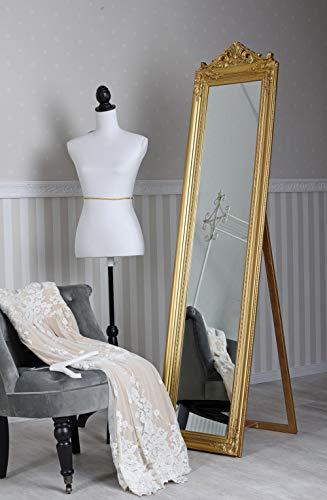 Standspiegel Ankleidespiegel Barockspiegel Boden stehend Rechteckig Spiegel Gold sna003 Palazzo Exklusiv