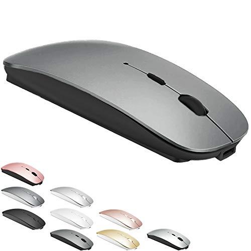 Bluetooth Mouse for MacBook pro/MacBook air/Laptop/iMac/ipad, Wireless Mouse for MacBook pro MacBook Air/iMac/Laptop/Notebook/pc(BT/Grey)
