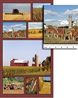 Cotton Quilt Fabric - Benartex American Spirit 1351-99 On The Farm Panel - Multi