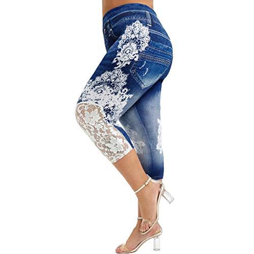 Xmiral Jeans Donna Vita Alta Elasticizzati Pantaloni Tuta Sportivi Donna Pantalone Donna Elegante Pantalone Militare Donna Leggins Sportiva Donna (L,2Blu Scuro)