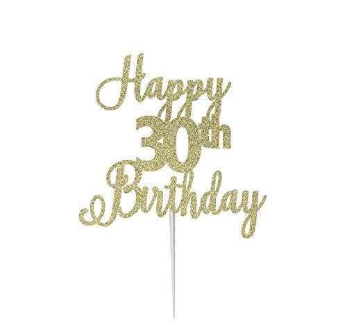 LissieLou - Tarjeta de felicitación de 30 cumpleaños con Purpurina para Tartas, Hecha en el Reino Unido