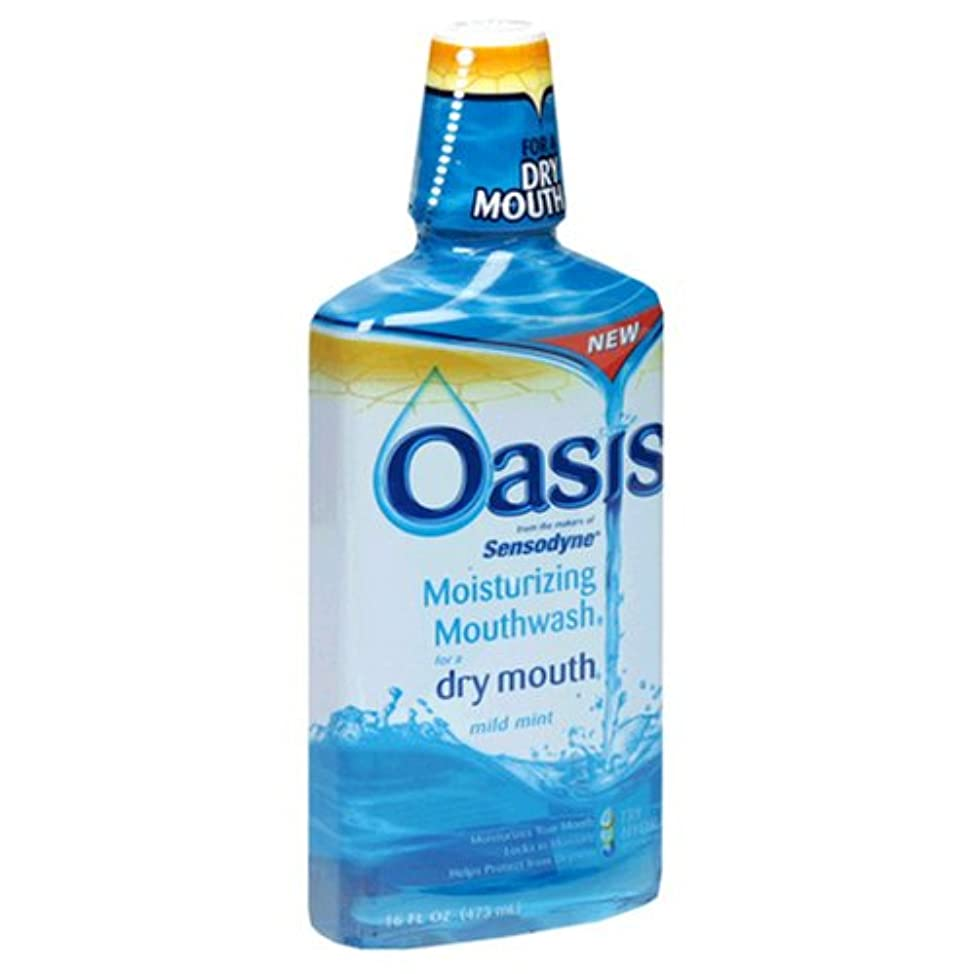 Oasis Moisturizing Mouthwash, For A Dry Mouth, Mild Mint, 16 Fl oz (473 ml) (Pack of 3)