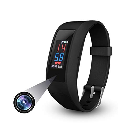 Pulsera inteligente 15 en 1, cámara de reloj oculta, 1080p HD, pantalla táctil a prueba de agua, monitor de presión arterial, rastreador de ejercicios para todos los teléfonos inteligentes para hombre