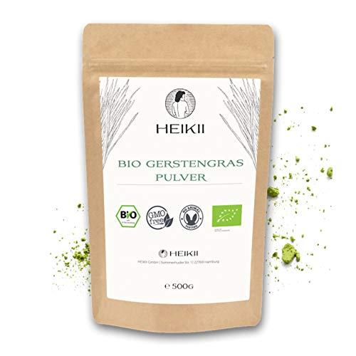 HEIKII® Bio Gerstengras Pulver 500 Gr. abgefüllt in Deutschland inkl. eKochbuch